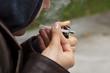 Smoking marijuana from a pipe
