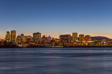 Montreal City in the evening, Quebec, Canada