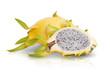 Dragon Fruit isolated white background.