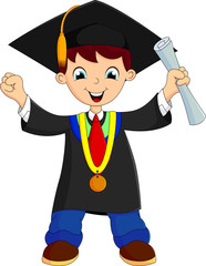 Happy graduate studen