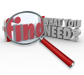 Find What You Need Magnifying Glass Searching for Information