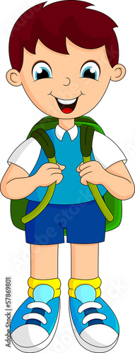 Boy with backpacks