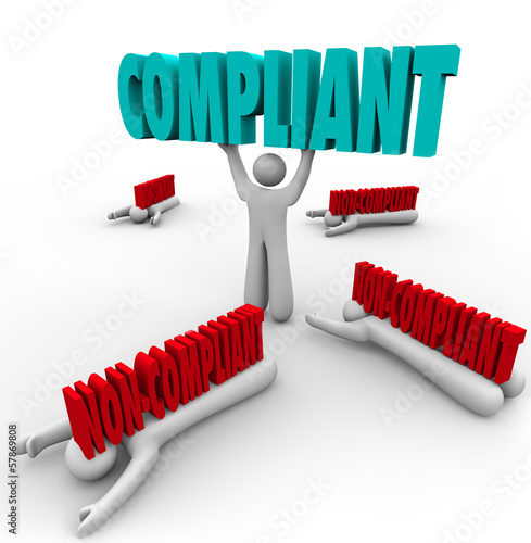 Compliant Vs Non-Compliance One Person Follows Rules