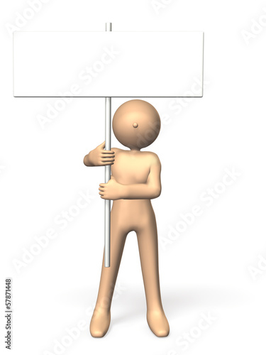 Person with a placard