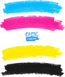 CMYK colors vector marker stains
