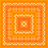 Orange knitted vector shawl pattern