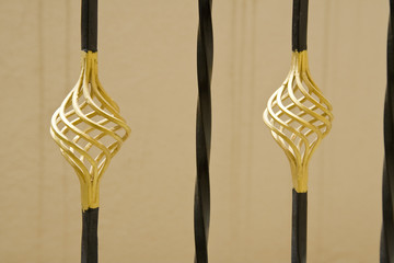 Gold-painted Railing Bulbs