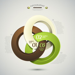 vector abstract 3d rings infographics