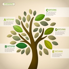 vector abstract tree infographics