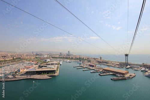 Barcelona harbour  from cable car