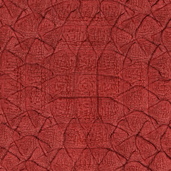 painted in red snake skin close up