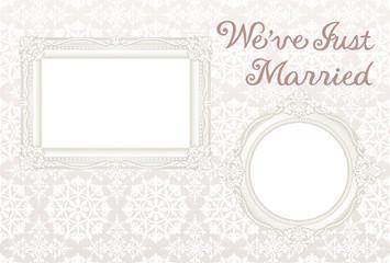 結婚報告ハガキ 写真フレーム