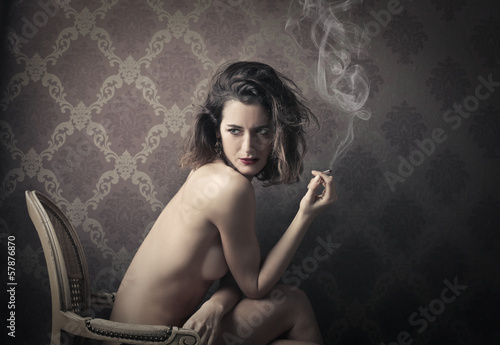 sexy smoker - 57876870