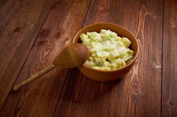 Dish of Colcannon potato