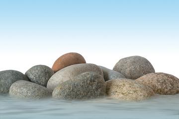 Fels mit Wasser