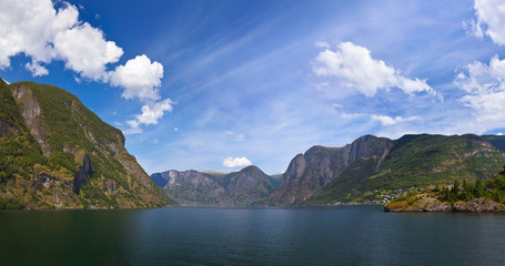 Panorama of Sognefjord - Norway