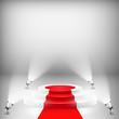 Zdjęcia na płótnie, fototapety, obrazy : Illuminated Podium With Red Carpet
