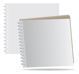 Template of a notebook with cover on a spring