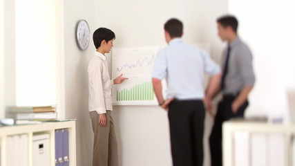 Multi-ethnic businessteam analyzing data charts