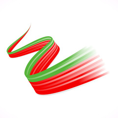 Abstract winding Portuguese, Bangladeshi and Moroccan flag