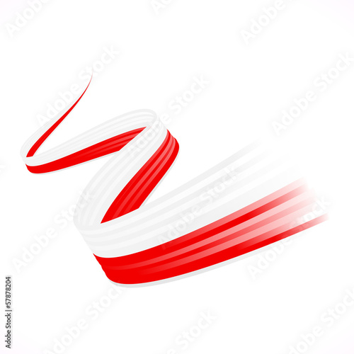 Abstract winding Japanese, Polish, Indonesian and flag