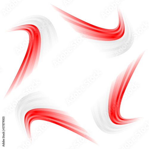 Abstract waving Japanese, Polish and Indonesian flag