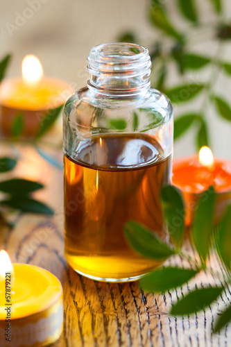 essential oil,candles and flowers