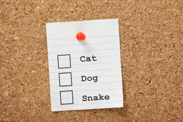 Cat, Dog or Snake?