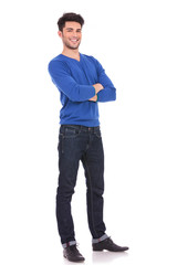 full body picture of a young confident man