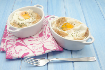 Sopa de ajo con huevo
