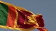 Waving Flag of Sri Lanka.