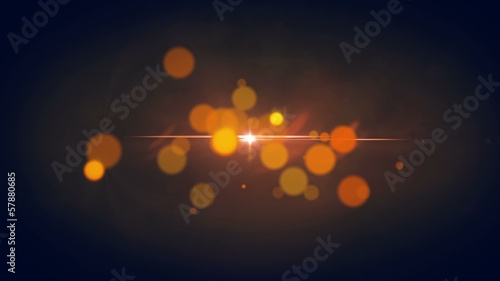Elegant Orange Background - Abstract Motion Looping Background