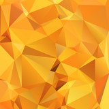 Fototapety Abstract gold orange background polygon. Geometric backdrop.
