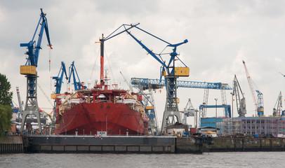 Huge ship building dock