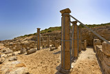 Archaeological site of ancient Kamiros in Rhodes, Greece.