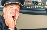 Panic in the airplane with pilot screaming for sudden failure