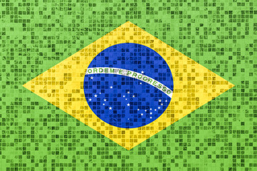 Brazilian flag on a textured Background
