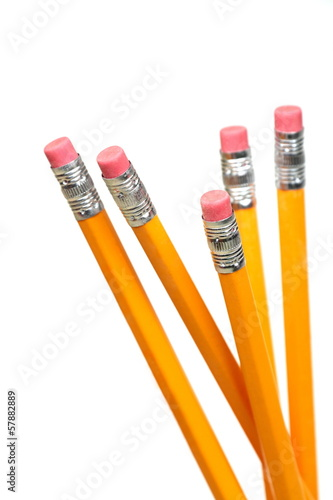 Lead pencils with eraser.