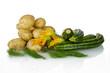 Potatoes and zucchini
