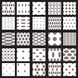 Set of elegant dot patterns in black and white.