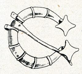 Ancient brooch (11.-15. century, Kurzeme, Latvia)