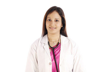 Smiling  Indian female doctor