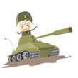 Постер, плакат: panzer angriff krieg