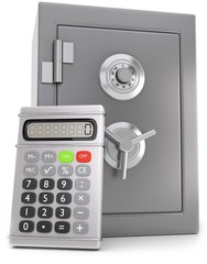 Taschenrechner Tresor