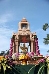 Gold Brahma Statue.