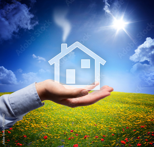 home concept in your hand - serene scene