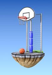 Street basketball concept