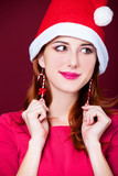 woman portrait with christmas earnings