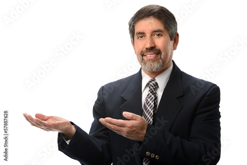 Hispanic Businessman Gesturing