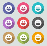 Emoticon icons - Flat design